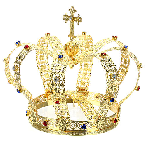 Imperial crown with cross on the top for statues 6 in diameter 3