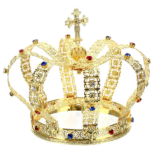 Imperial crown with cross on the top for statues 6 in diameter 5