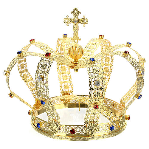 Imperial crown with cross on the top for statues 6 in diameter 7