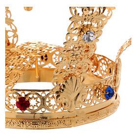 Corona stile imperiale croce e gemme per statue diam. 10 cm s3
