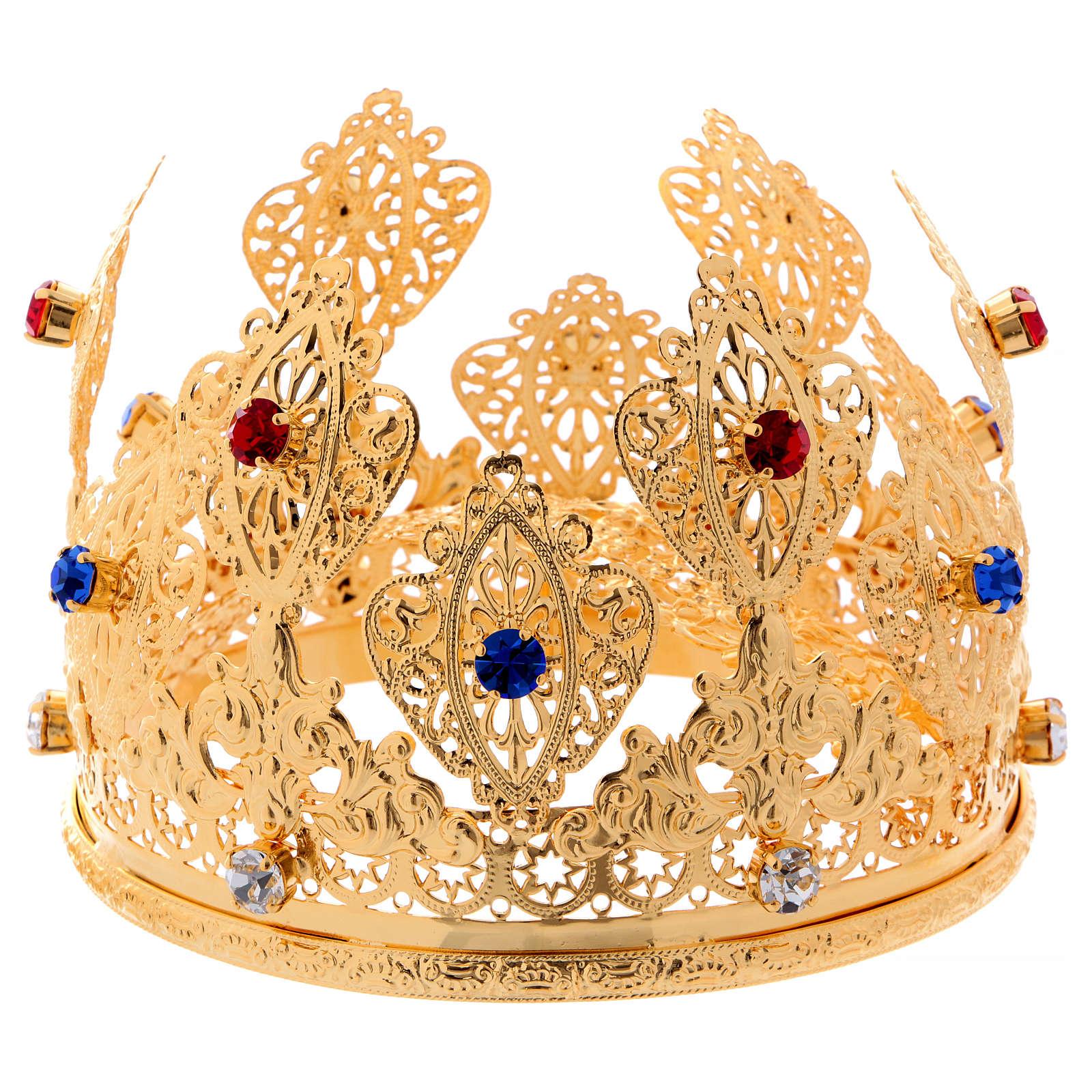 Corona ducale per statue con pietre diam. 12 cm 3
