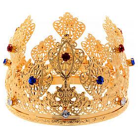 Corona ducale per statue con pietre diam. 12 cm s1