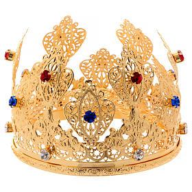 Corona ducale per statue con pietre diam. 12 cm s3