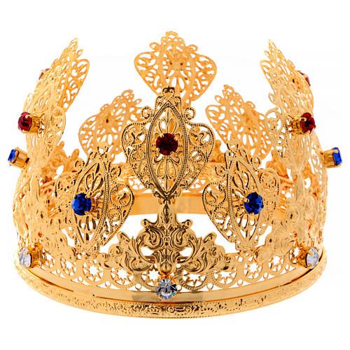Corona ducale per statue con pietre diam. 12 cm 1