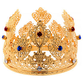 Ducal crown for statues with stones 4 3/4 in diameter s1