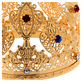 Ducal crown for statues with stones 4 3/4 in diameter s2