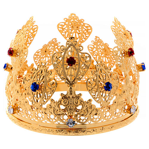 Ducal crown for statues with stones 4 3/4 in diameter 1