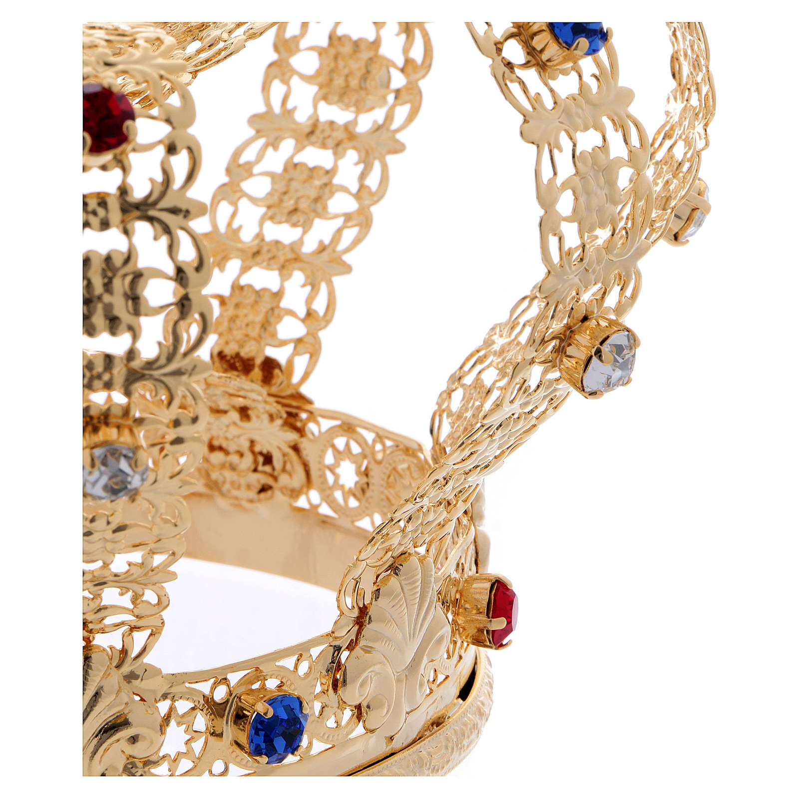 Corona imperial cruz y gemas diám. 12 cm 3