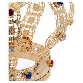 Corona imperial cruz y gemas diám. 12 cm s3