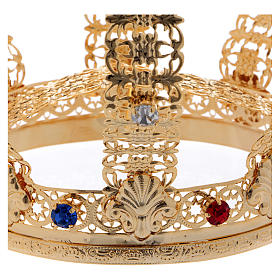 Corona imperial cruz y gemas diám. 12 cm s4