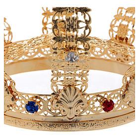 Corona imperiale croce e gemme diam. 12 cm s4