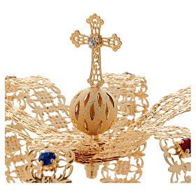 Coroa imperial com cruz e pedras diâmetro 12 cm s2