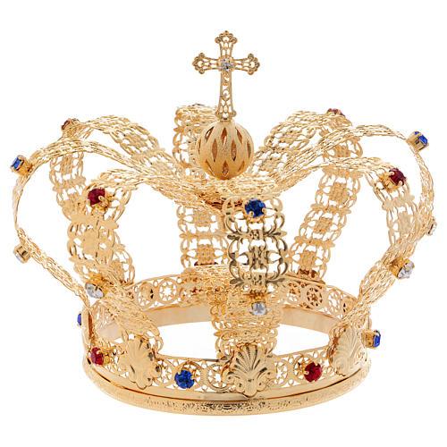 Coroa imperial com cruz e pedras diâmetro 12 cm 1