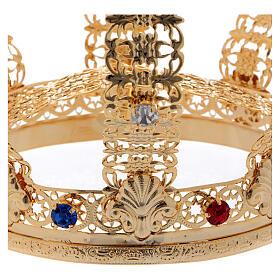 Imperial crown cross and stones 4 3/4 in diameter s4