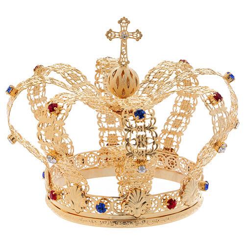 Imperial crown cross and stones 4 3/4 in diameter 1