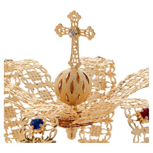 Imperial crown cross and stones 4 3/4 in diameter 2