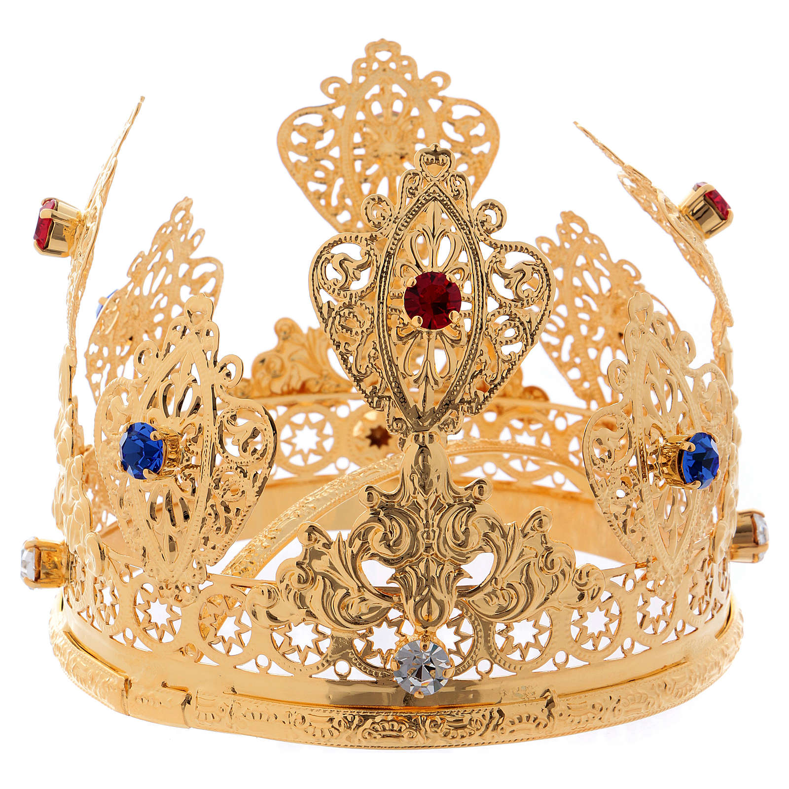 Corona ducal para estatuas con gemas diám. 10 cm 3