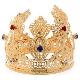 Corona ducal para estatuas con gemas diám. 10 cm s1