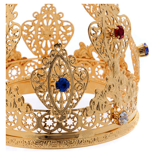 Corona ducal para estatuas con gemas diám. 10 cm 2