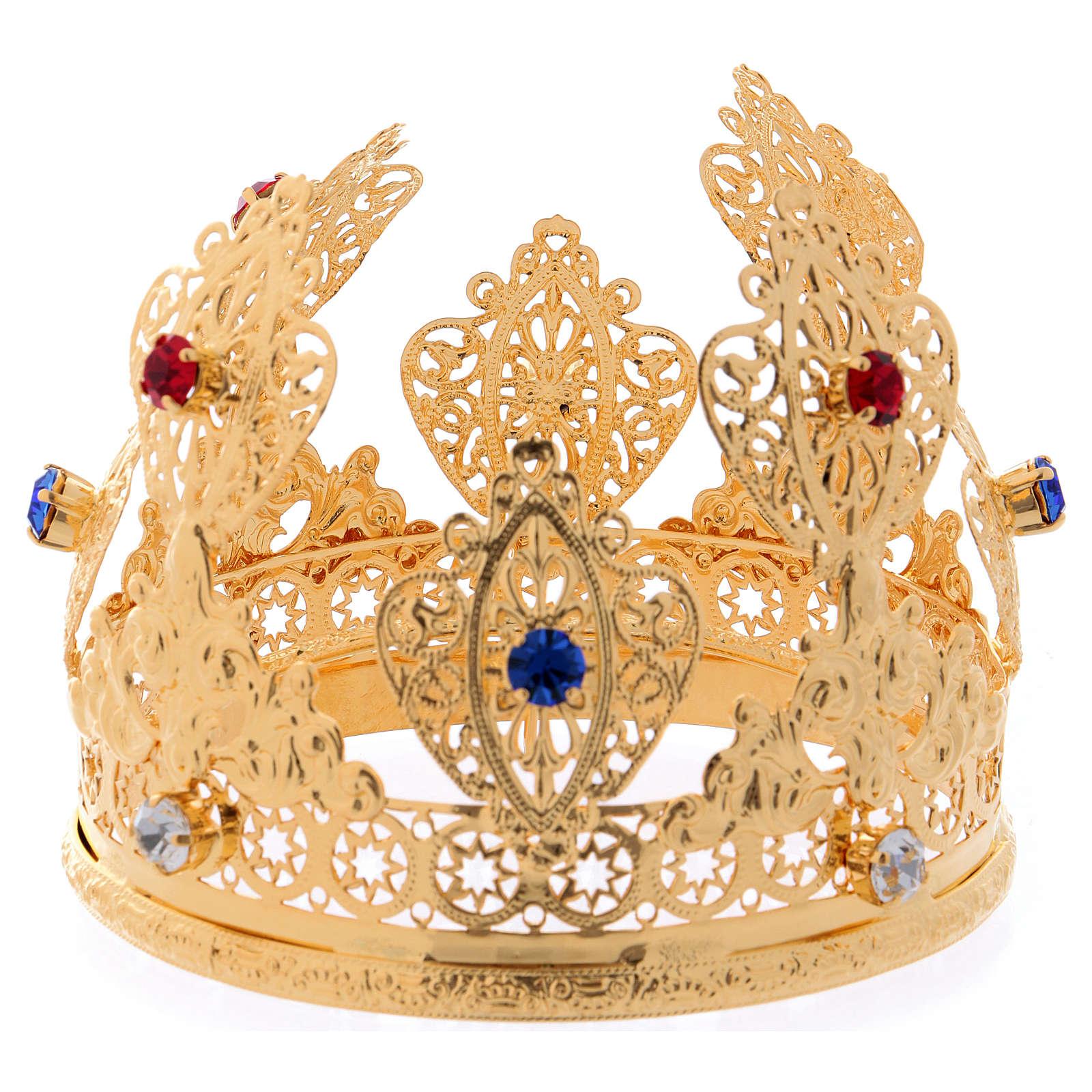 Corona ducale per statue con gemme diam. 10 cm 3