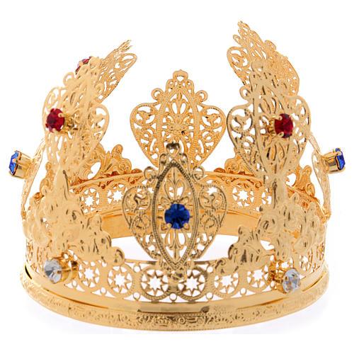 Corona ducale per statue con gemme diam. 10 cm 1