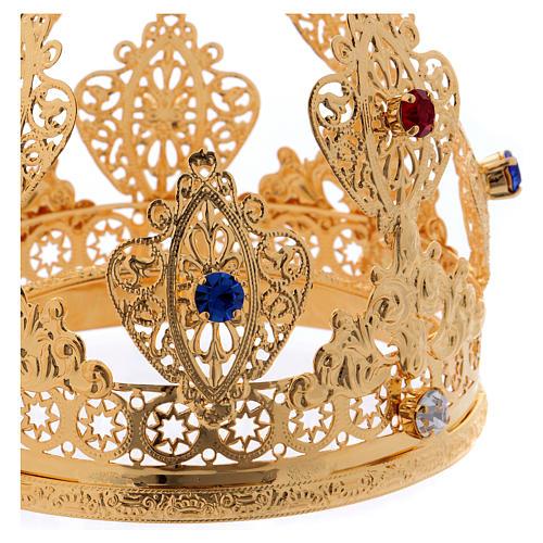 Corona ducale per statue con gemme diam. 10 cm 2