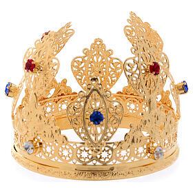 Coroa ducal para estátua com gemas diâm. 10 cm s1