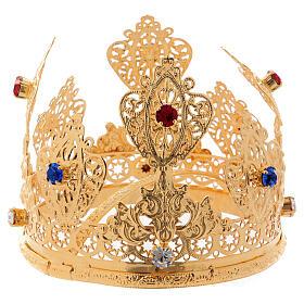 Coroa ducal para estátua com gemas diâm. 10 cm s3