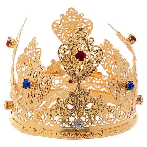Coroa ducal para estátua com gemas diâm. 10 cm 3