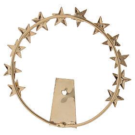 STOCK Aureola Madonna stelle ottone dorato 8 cm s3