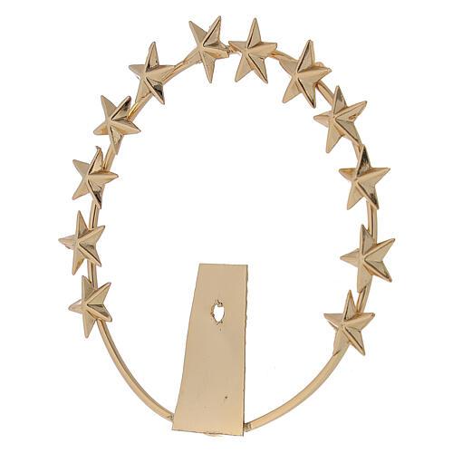 Aureola Madonna stelle ottone dorato 8 cm 2