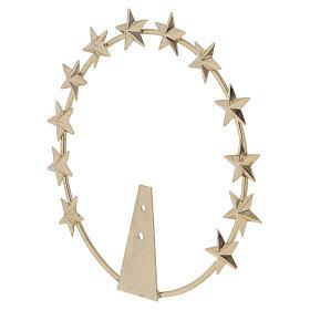 Auréola Vierge étoiles laiton doré 12 cm s3