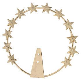 STOCK Auréola Nossa Senhora estrelas latão dourado 12 cm s1