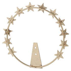 STOCK Auréola Nossa Senhora estrelas latão dourado 12 cm s4