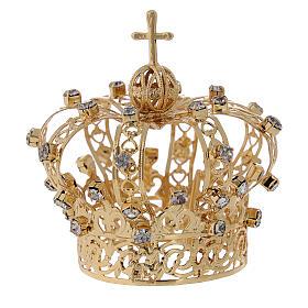 Coroa Nossa Senhora cruz e cristais 4 cm s1