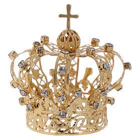 Coroa Nossa Senhora cruz e cristais 4 cm s3