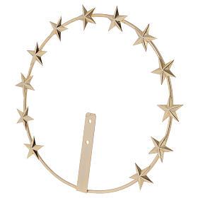 Auréole Vierge étoiles laiton doré 20 cm s3