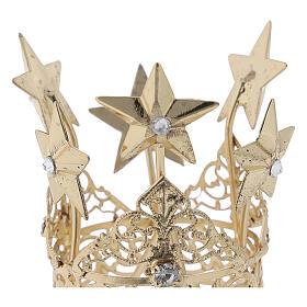 Corona para Virgen latón dorado 3 cm s2