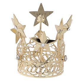 Corona para Virgen latón dorado 3 cm s3
