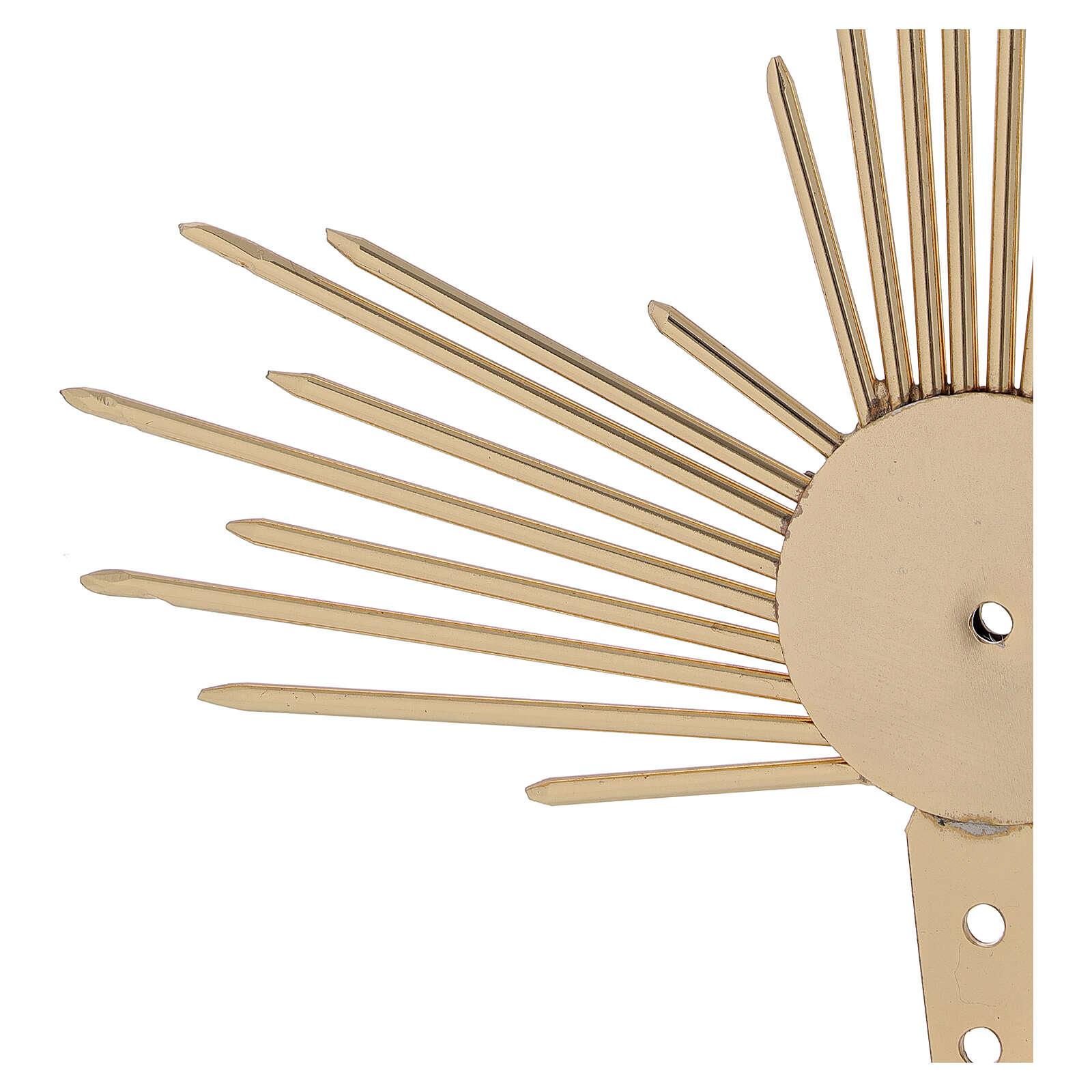 Aureola para Santo con rayos luz 17 cm 3