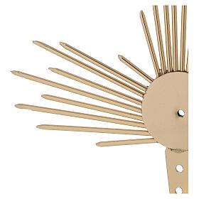 Aureola para Santo con rayos luz 17 cm s2