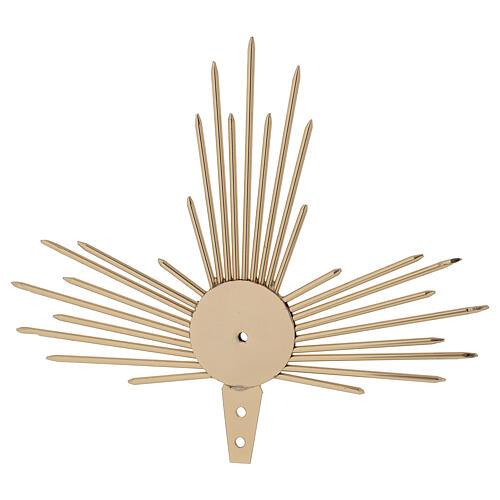 Aureola para Santo con rayos luz 17 cm 4