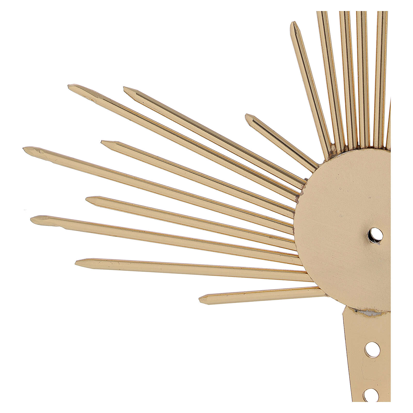 Auréole pour Saint avec rayons lumière 17 cm 3