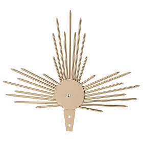 Auréole pour Saint avec rayons lumière 17 cm s1