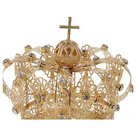 STOCK Coroa real para Nossa Senhora latão dourado 8 cm s2