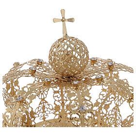 Couronne royale pour Vierge laiton doré 12 cm s2