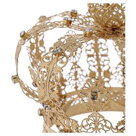Corona regale per Madonna ottone dorato 12 cm s3