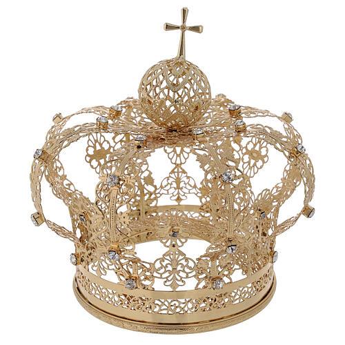 Corona regale per Madonna ottone dorato 12 cm 1