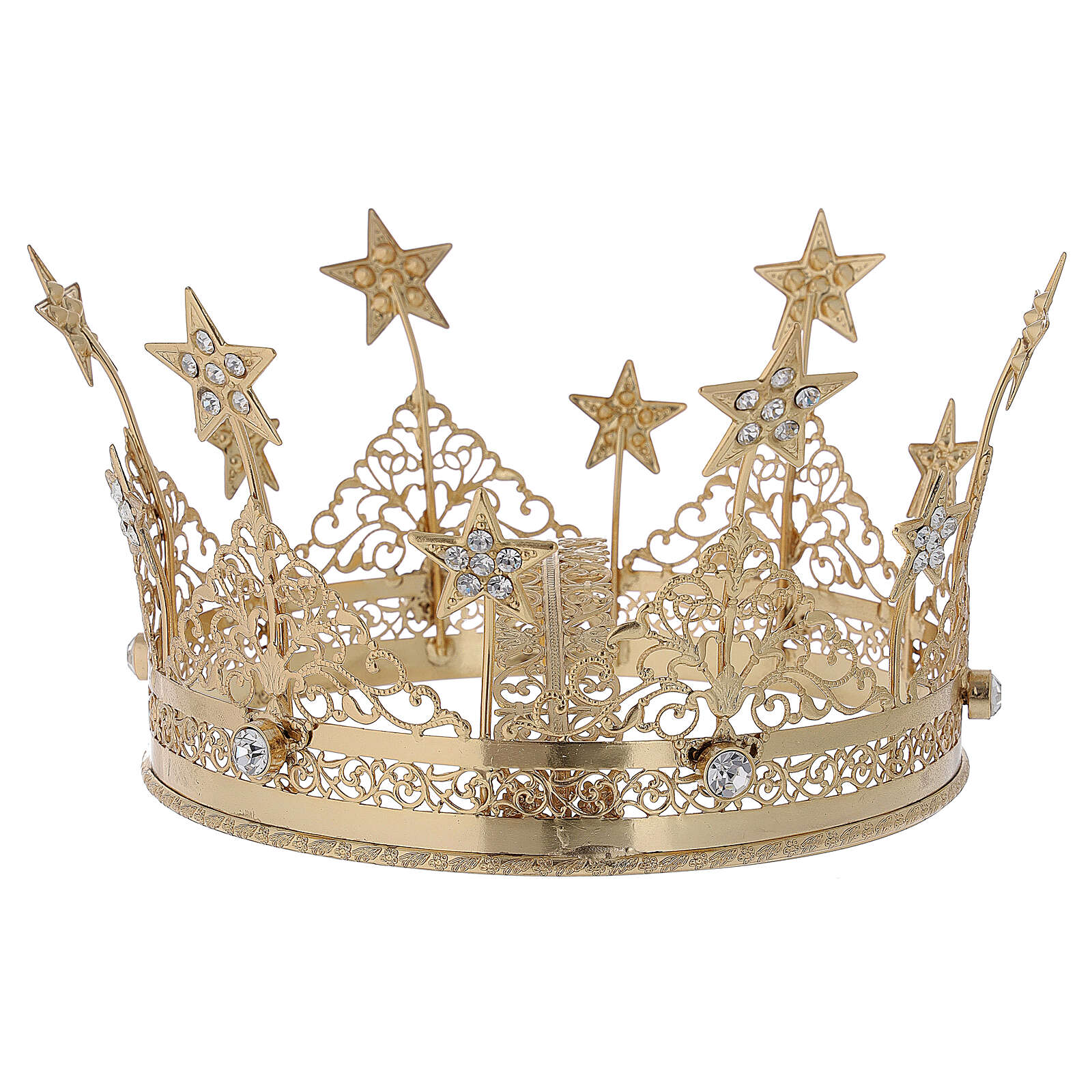 Corona para Santo latón dorado 16 cm 3