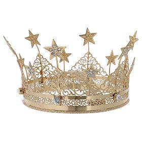 Corona per Santo ottone dorato 16 cm s1